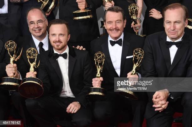 CoExecutive Producer Thomas Schnauz actors Aaron Paul Bryan Cranston Bob Odenkirk winners of Outstanding Drama Series Award Outstanding Lead Actor in...