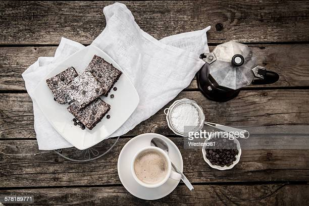 Coffee and brownies