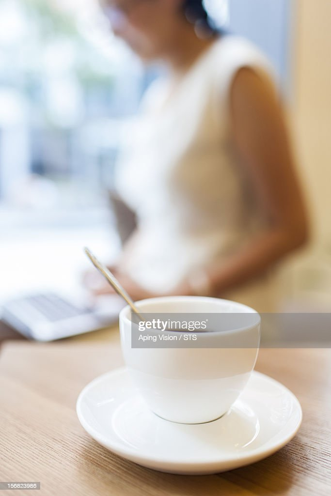 Coffee and businesswoman : Stock Photo