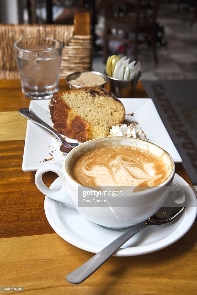 Coffee and Cake at Cafe : Stock Photo