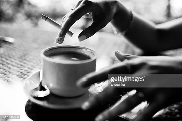 コーヒー、タバコ