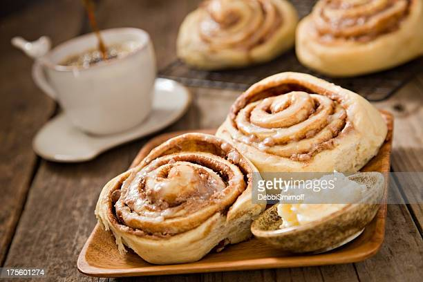 Coffee And Cinnamon Rolls