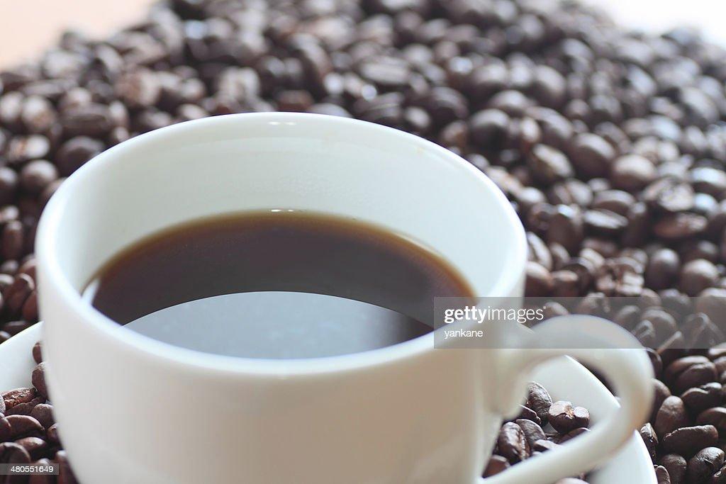 Café e grãos de café : Foto de stock