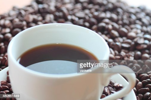 coffee and coffee beans : Stock Photo