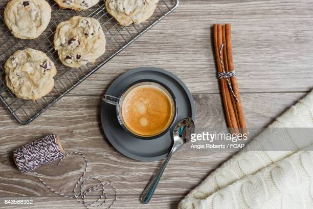 Coffee and cookies for breakfast