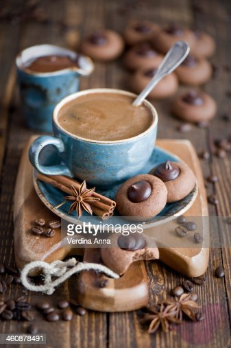 Coffee and cookies : Stock Photo