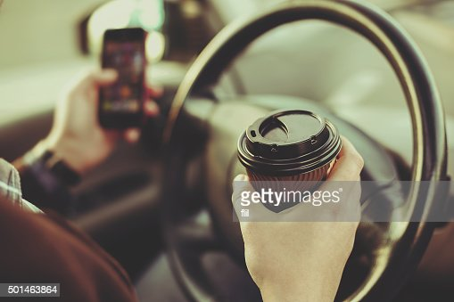 Coffee and driver : Stock Photo