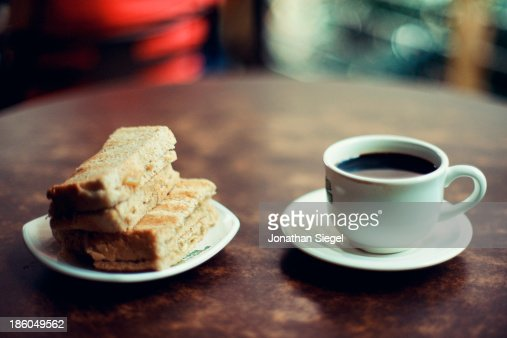 Coffee and toast : Stock Photo