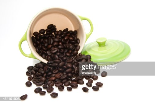 Grano de café verde en Cuba : Foto de stock