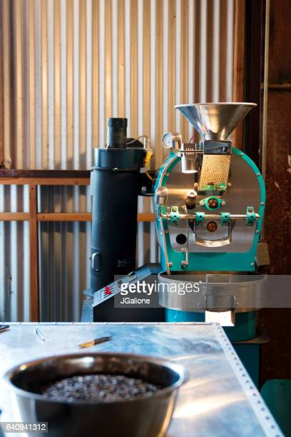 Coffee bean roasting machinery