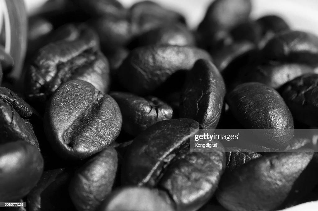 コーヒー豆を白黒 : ストックフォト
