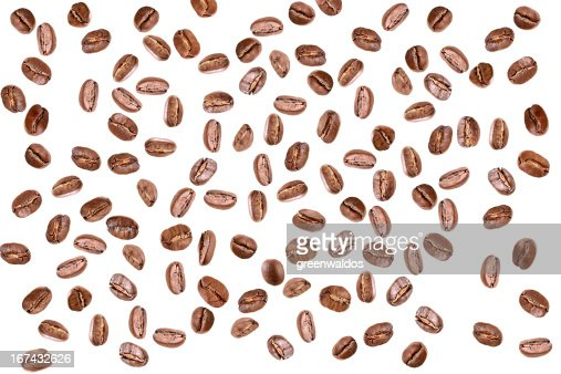 coffee beans isolated on white : Stock Photo