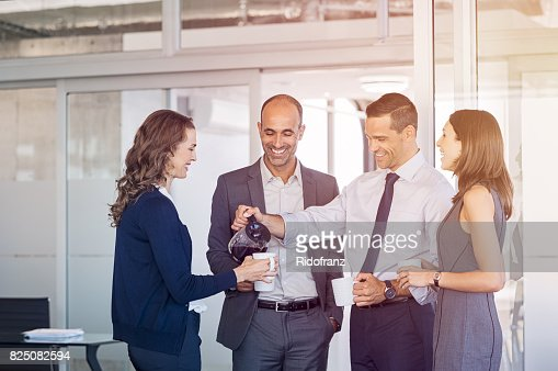 Coffee break at office : Stock Photo