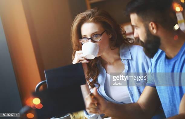 Kaffeepause-Gespräch.