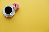 Coffee break time with donuts