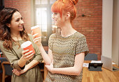 Coffee break with coworker