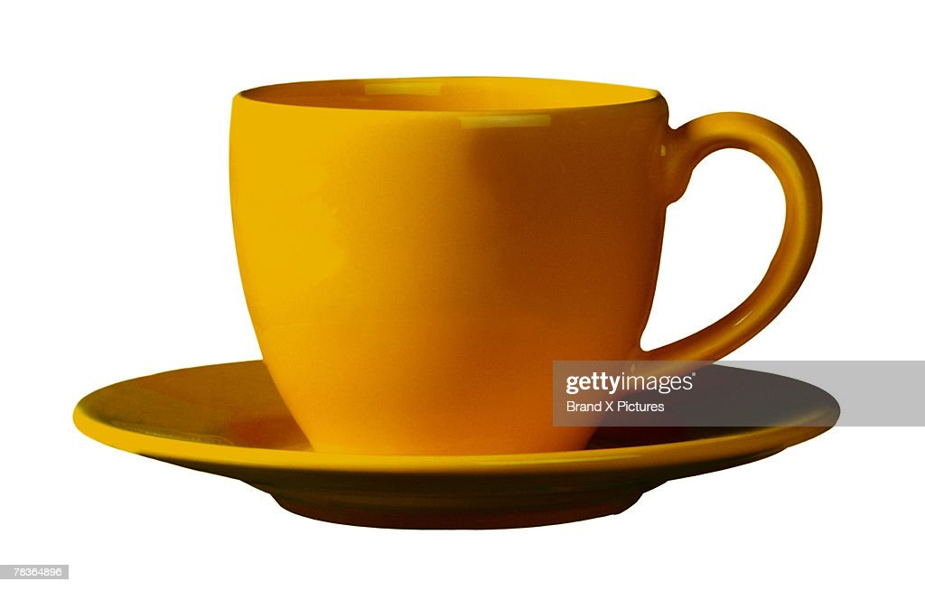 Coffee cup and saucer : Stock Photo