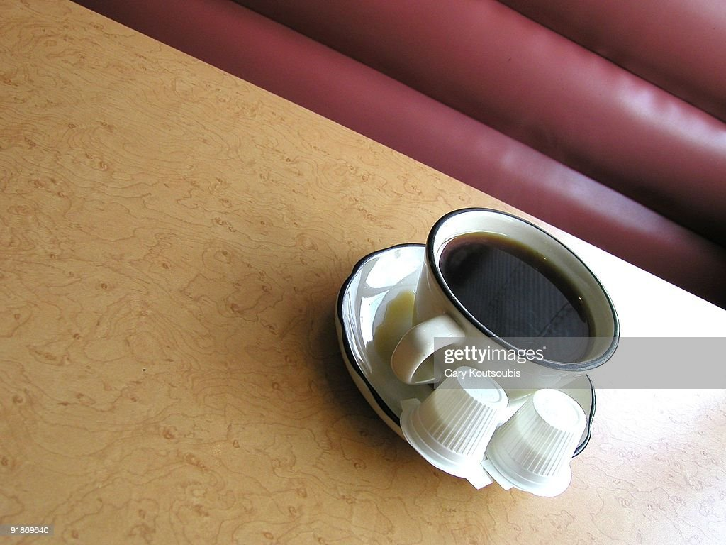 Coffee Cup in  a Diner : Stock Photo