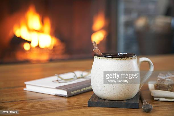 Coffee cup on coaster