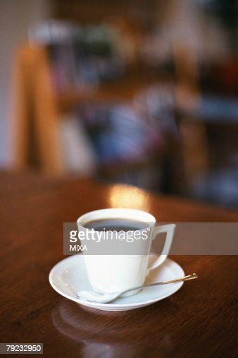 Coffee cup on table : Stock Photo