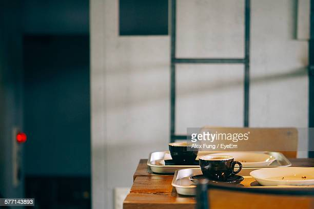 Coffee Cups On Table