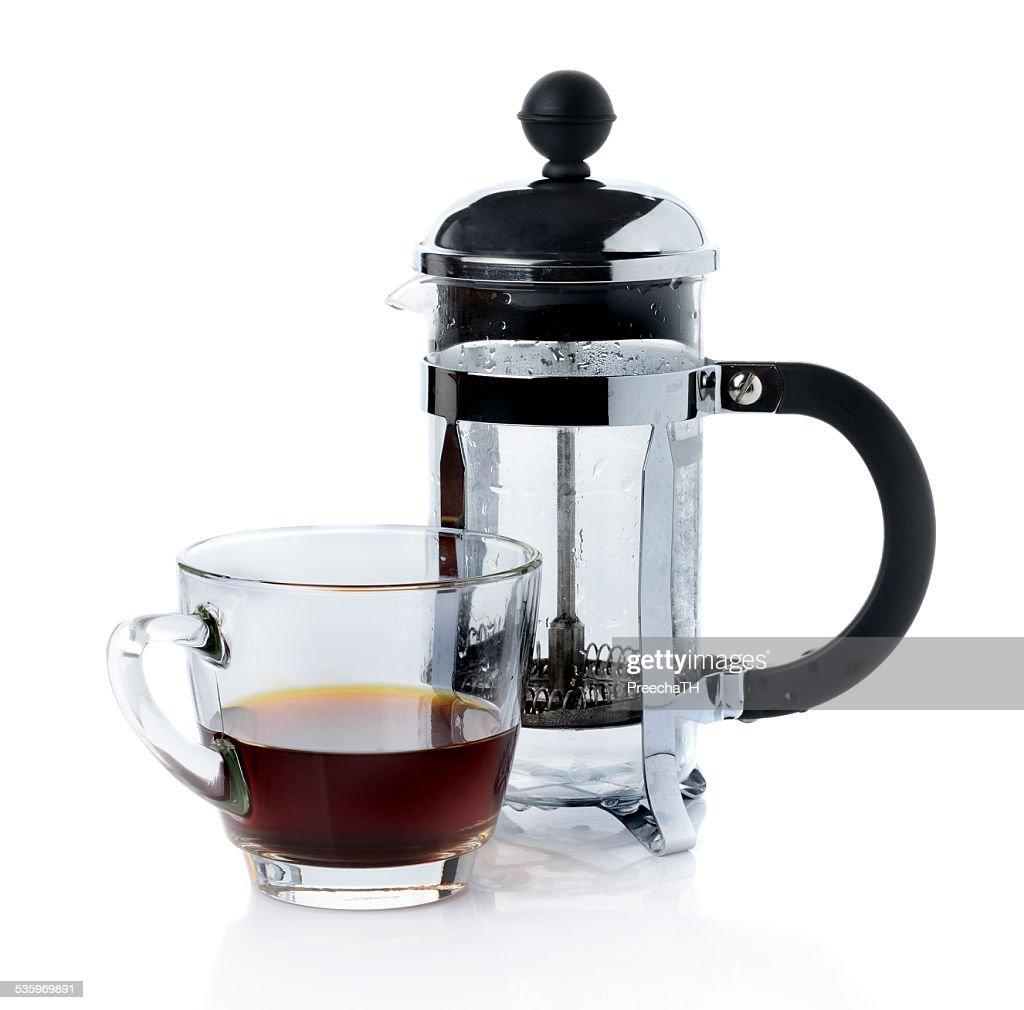 coffee french press pot : Stock Photo