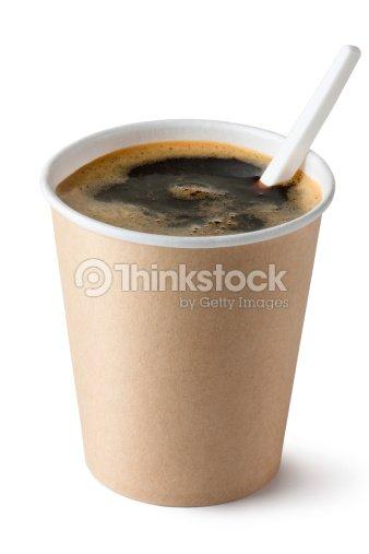 caf dans une tasse jetable avec une cuill re en plastique photo thinkstock. Black Bedroom Furniture Sets. Home Design Ideas