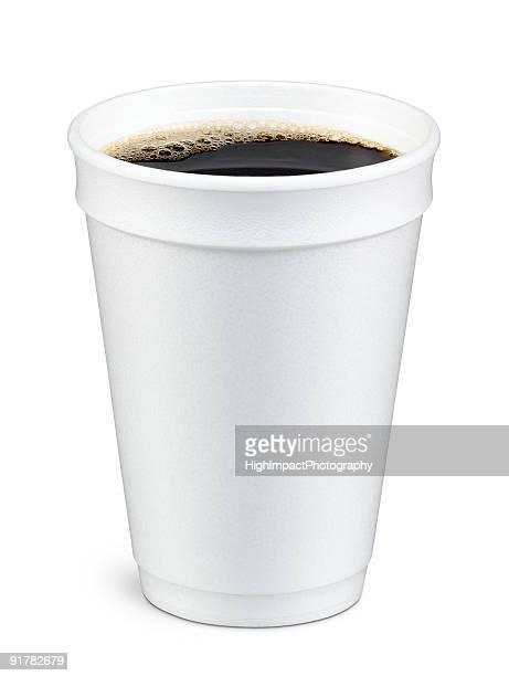 Taza de café en espuma