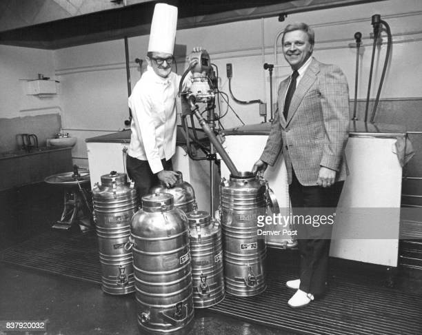 Coffee is Their Prime Commodity Brewmaster Birchell O Eden left and Don Jeske president display the containers used by liquid coffee ***** Credit...