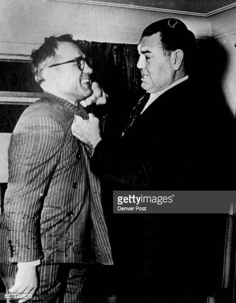 Coffee Joe hams it up with heavyweight boxer Jack Dempsey Credit Denver Post
