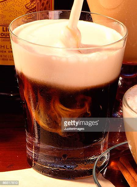 Coffee liqueur and cream