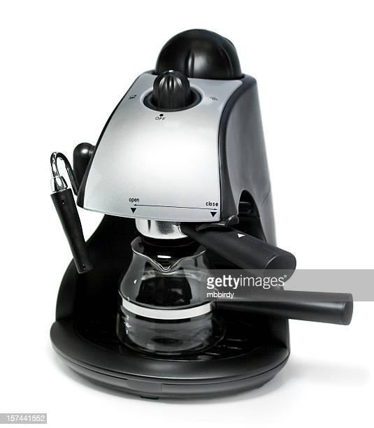 Kaffeemaschine, isoliert auf weißem Hintergrund