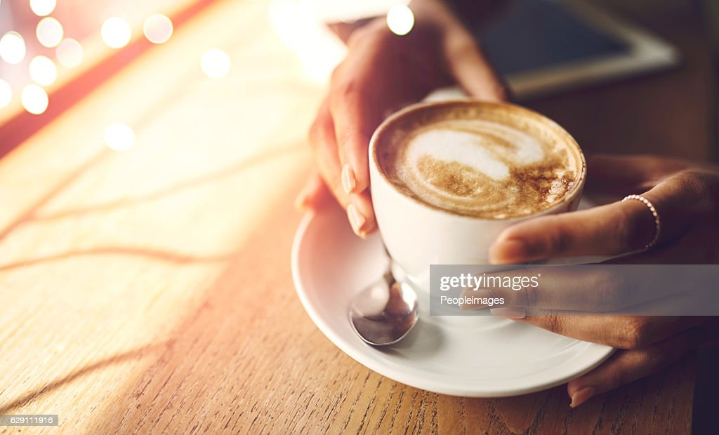 Coffee makes everything possible : Stock Photo