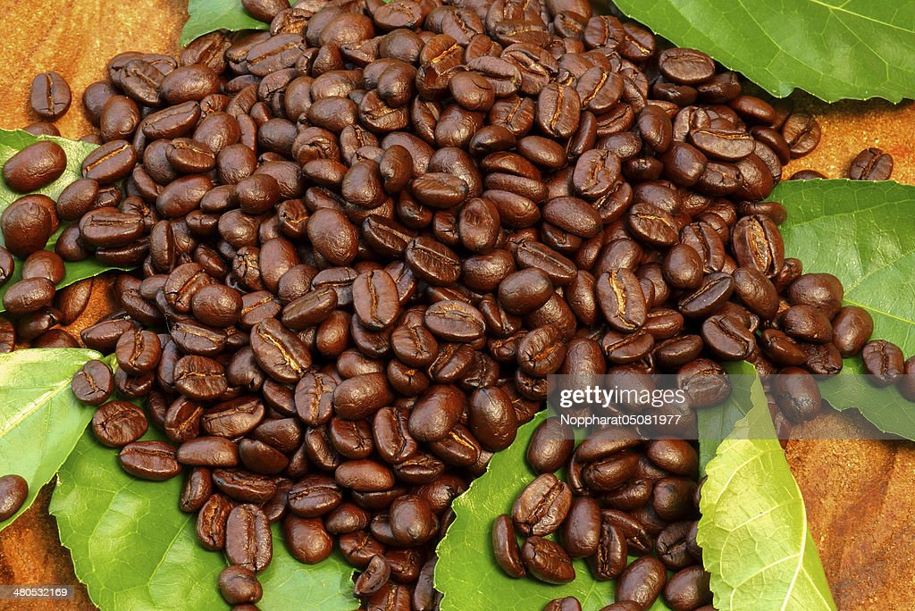 Coffee on wood background : Stockfoto