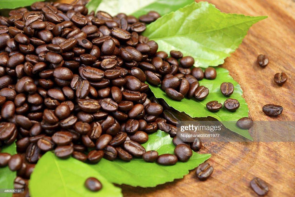 Kaffee auf Holz Hintergrund : Stock-Foto