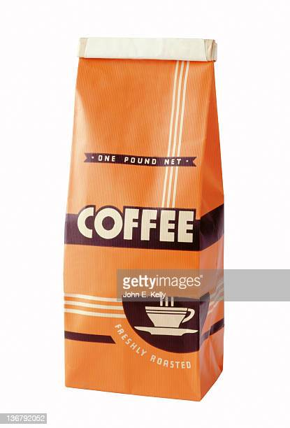 Coffee package on white