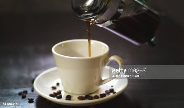 Coffee pouring in to coffee cup