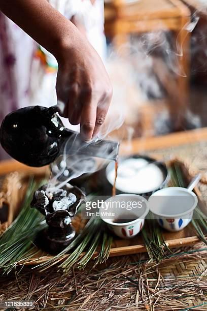 Coffee ritual, Gondor, Ethiopia, Africa