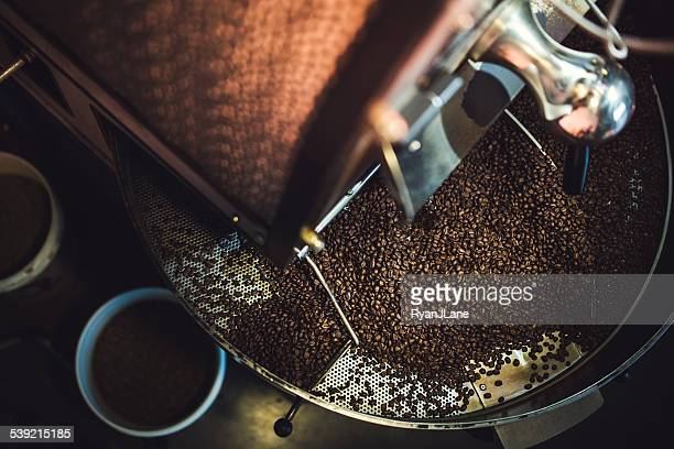 Coffee Roaster Cooling Batch of Beans