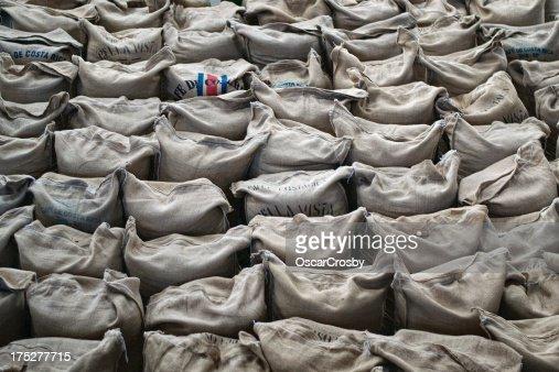 Coffee sacks : Stock Photo