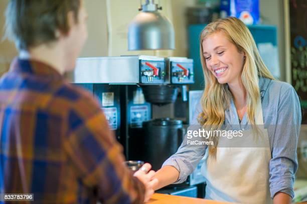 Serveur de café