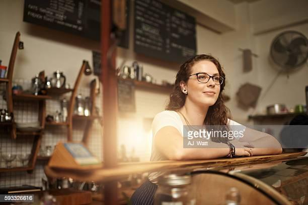 Coffee shop contemplation