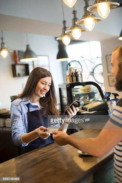 coffee shop credit card payment