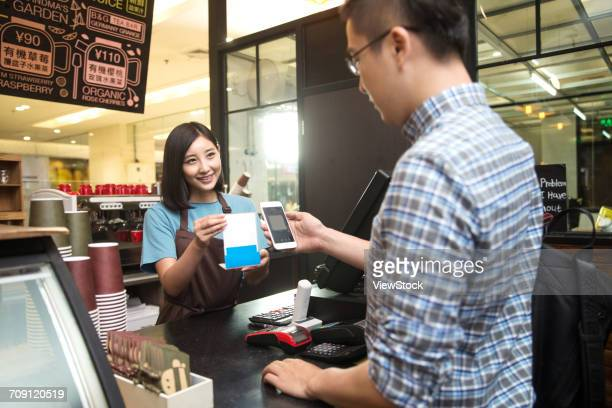 Coffee shop for mobile payment