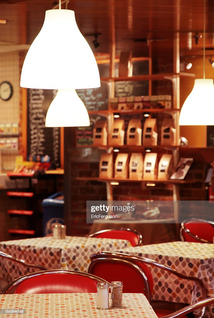 Coffee shop with tables stock photo getty images Tables for coffee shop