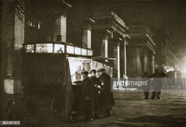 A coffee stall at Hyde Park Corner London 20th century This coffee stall was pitched opposite St George's Hospital just before ten o'clock every...