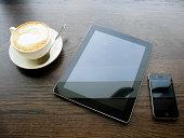 Coffee tablet smartphone