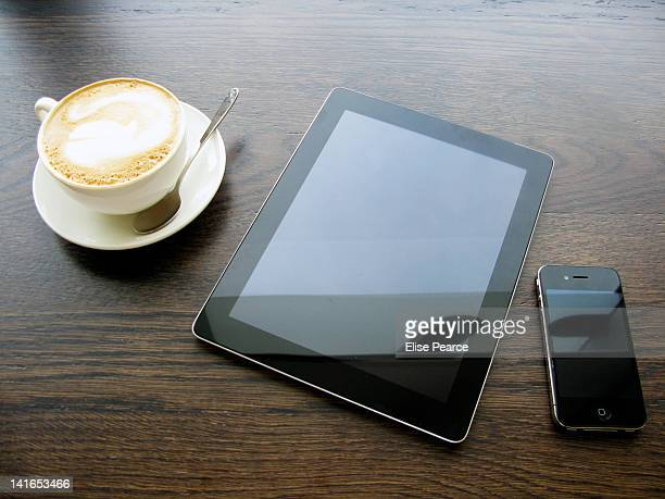 Coffee tablet smartphone