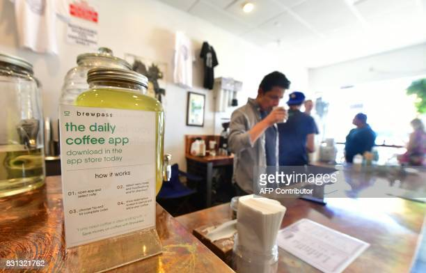 Coffee with a tech edge on dispaly at Weird Wave Coffee Brewers coffee house in the Boyle Heights neighborhood of Los Angeles California on August 3...