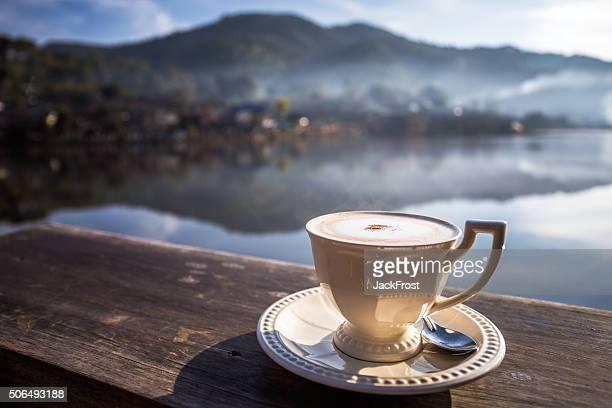 Coffee with Beautiful scenery